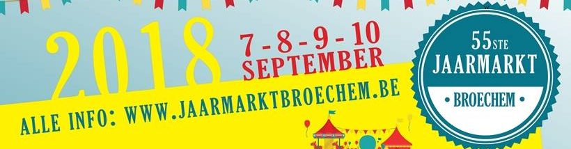 55ste Jaarmarkt Broechem – 7-10 september 2018